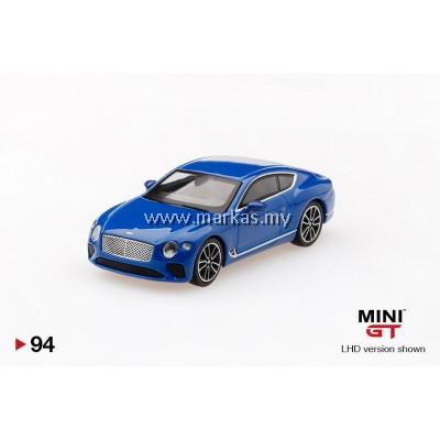 (PO) MINI GT 1/64 #94 BENTLEY CONTINENTAL GT 2018 SEQUIN BLUE