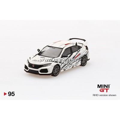 (PO) MINI GT 1/64 #95 HONDA CIVIC TYPE R (FK8) BLITZ TYPE R