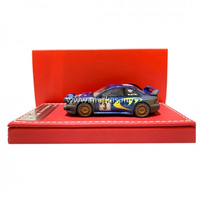 (PO) VIP MODELS 1/64 SUBARU WRC 22B (RALLY MUD WITH LIGHT POD)