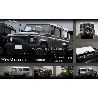 (PO) YM MODEL 1/64 LAND ROVER DEFENDER 110 AIRCRAFT GREY