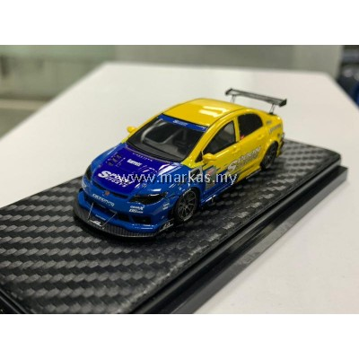 (PO) YM MODEL 1/64 HONDA CIVIC FD2R SPOON (MIDDLE SEAT)