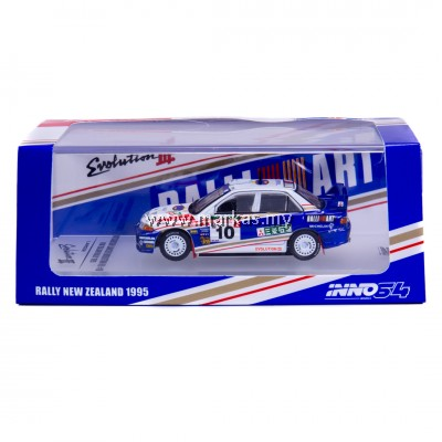 INNO MODELS INNO64 1/64 MITSUBISHI LANCER EVOLUTION III #10 NEW ZEALAND RALLY 1995