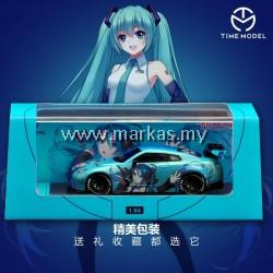 (PO) TIME MODEL 1/64 LB☆WORKS NISSAN GT-R R35 HATSUNE MIKU GT WING