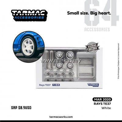(PO) TARMAC WORKS 1/64 ACCESSORIES RAYS TE37 SL WHITE