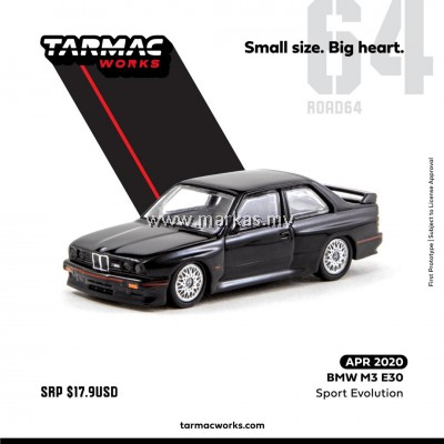 (PO) TARMAC WORKS 1/64 BMW M3 E30 SPORTS EVOLUTION