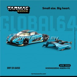 (PO) TARMAC WORKS GLOBAL64 1/64 KOENIGSEGG AGERA RS BLUE