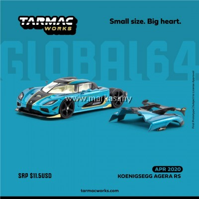(PO) TARMAC WORKS GLOBAL64 1/64 KOENIGSEGG AGERA RS BLUE