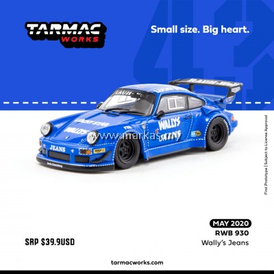 (PO) TARMAC WORKS 1/43 PORSCHE RWB 993 WALLY'S JEANS