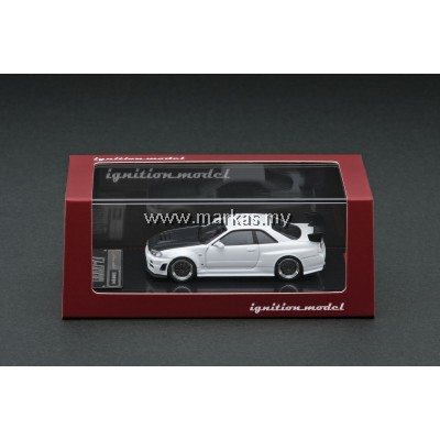 (PO) IGNITION MODEL 1/64 NISMO R34 GT-R Z TUNE WHITE