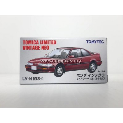 TOMICA LIMITED VINTAGE LV-N193A HONDA INTEGRA 3 DOOR COUPE XSI (RED)