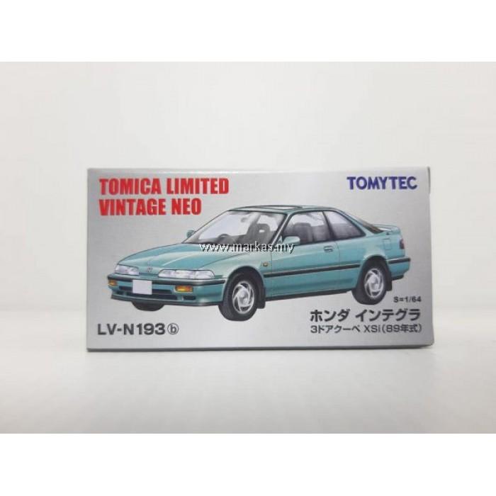 TOMICA LIMITED VINTAGE LV-N193B HONDA INTEGRA 3 DOOR COUPE XSI (BLUE)