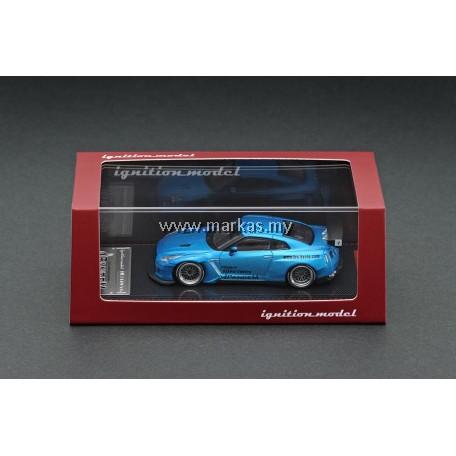 IGNITION MODEL 1/64 1747 PANDEM R35 GT-R BLUE METALLIC