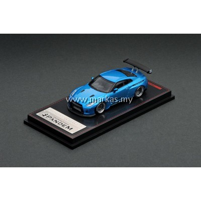 IGNITION MODEL 1/64 1747 PANDEM R35 GT-R BLUE METALLIC