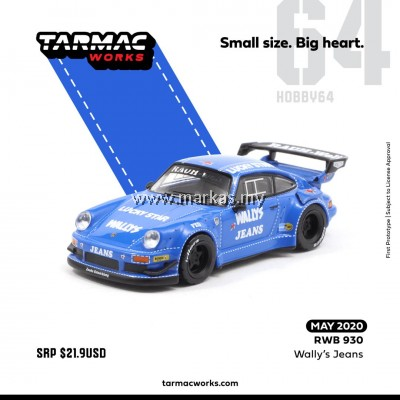 (PO) TARMAC WORKS 1/64 PORSCHE RWB 930 WALLY'S JEANS