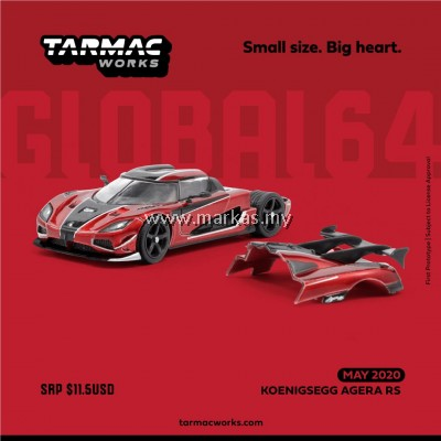(PO) TARMAC WORKS GLOBAL64 1/64 KOENIGSEGG AGERA RS RED