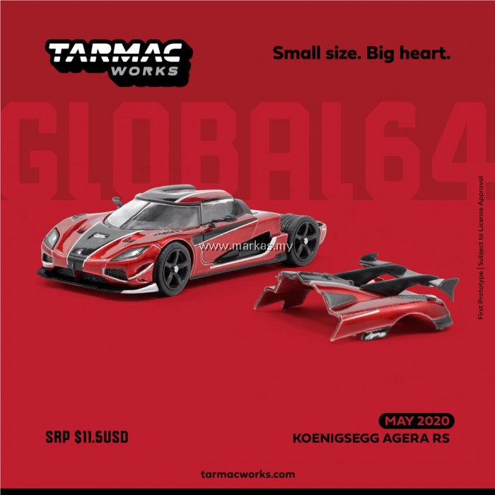 Koenigsegg Agera Rs Red: (PO) TARMAC WORKS GLOBAL64 1/64 KOENIGSEGG AGERA RS RED