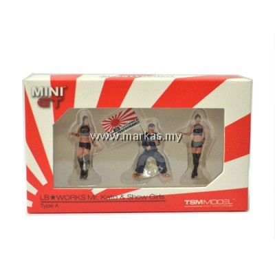 MINI GT 1/64 GARAGE TOOLS SET FIGURINE LB WORKS MR.KATO AND SHOW GIRLS TYPE A