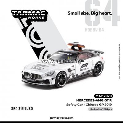 (PO) TARMAC WORKS 1/64 MERCEDES AMG GT-R SAFETY CAR CHINA GP 2019