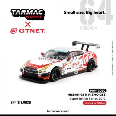 (PO) TARMAC WORKS x GT-NET 1/64 NISSAN SKYLINE GT-R NISMO GT3 SUPER TAIKYU SERIES 2019