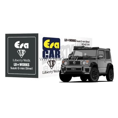 (PO) ERA CAR x LIBERTY WALK LB WORKS 1/64 SUZUKI G MINI SP EDITION (SILVER)