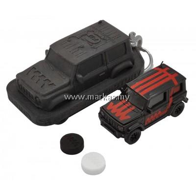 ERA CAR X 4A 1/64 SUZUKI JIMNY SIERRA WHITE BOX - BLACK MATTE RED