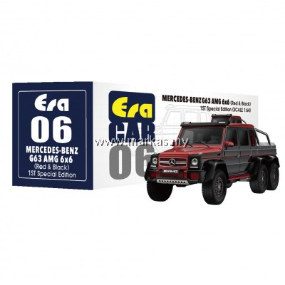 ERA CAR 1/64 #06 MERCEDES-BENZ G63 AMG 6x6 1ST SPECIAL EDITION (RED BLACK)