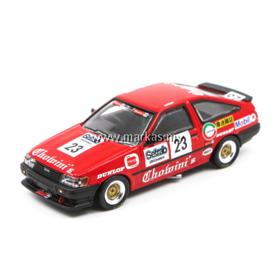 "INNO MODELS INNO64 X POPRACE 1/64 TOYOTA COROLLA AE86 #23 ""CHOWINI'S"" MACAU GUIA RACE 1984-MACAU GP 2019 EDITION"