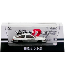 (PO) TIME MODEL 1/64 TOYOTA TRUENO AE86 INITIAL D WHITE