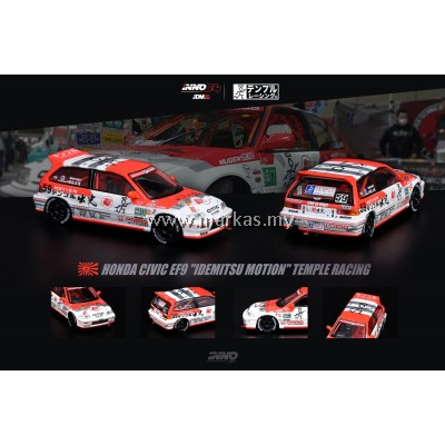 "(PO) INNO MODELS INNO64 1/64 HONDA CIVIC EF9 TEMPLE RACING ""IDEMITSU MOTION""  JDM COLLECTION"