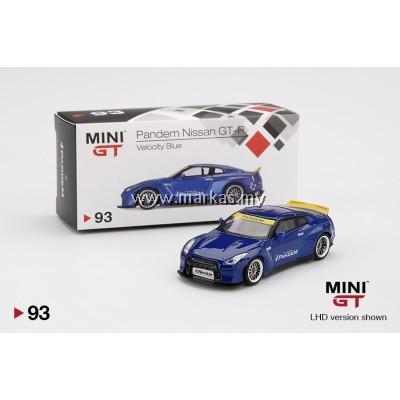 MINI GT 1/64 #93 PANDEM NISSAN GT-R R35 DUCK TAIL VELOCITY BLUE