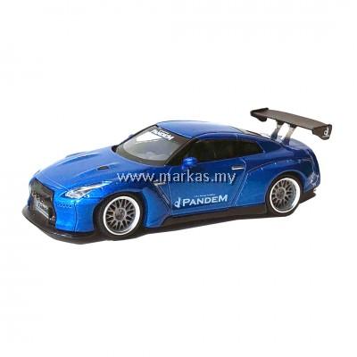 MINI GT 1/64 #96 PANDEM NISSAN GT-R R35 GT WING METALLIC BLUE *TOKYO AUTO SALON