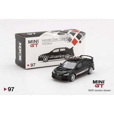 MINI GT 1/64 #97 HONDA CIVIC TYPE R (FK8) HKS BLACK