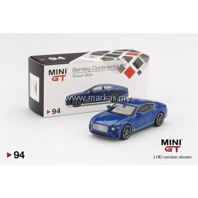 MINI GT 1/64 #94 BENTLEY CONTINENTAL GT 2018 SEQUIN BLUE