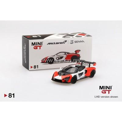 MINI GT 1/64 #81 MCLAREN SENNA ORANGE/WHITE (RHD)