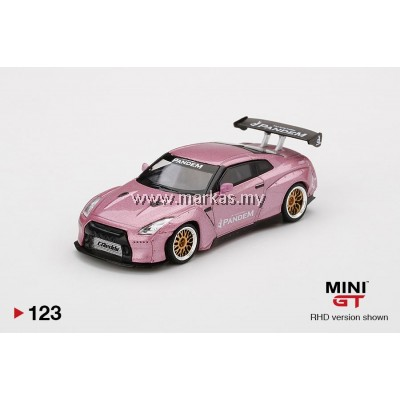 (PO) MINI GT 1/64 #123 PANDEM NISSAN GT-R R35 GT WING PASSION PINK