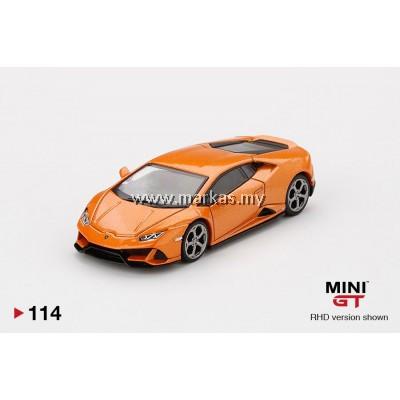 (PO) MINI GT 1/64 #114 LAMBORGHINI HURACAN EVO EVO ARANCIO BOREALIS