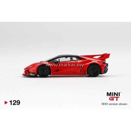 (PO) MINI GT 1/64 #129 LB WORKS LAMBORGHINI HURACAN GT RED