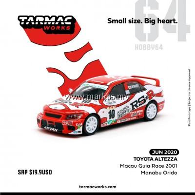 (PO) TARMAC WORKS 1/64 TOYOTA ALTEZZA MACAU GUIA RACE 2001
