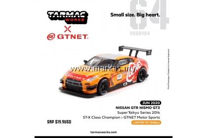 (PO) TARMAC WORKS X GT-NET 1/64 NISSAN GT-R NISMO GT3 SUPER TAIKYU SERIES 2014 ST-X CLASS CHAMPION