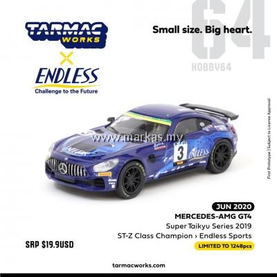 (PO) TARMAC WORKS X ENDLESS SPORT 1/64 MERCEDES AMG GT4 SUPER TAIKYU SERIES 2019 ST-Z CLASS CHAMPION