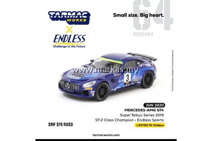 (PO) TARMAC WORKS X ENDLESS SPORT 1/64 MERCEDES AMG GT4 SUPER TAIKYU SERIES 2019 ST-Z CLASS CHAMPION