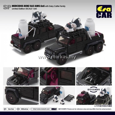 ERA CAR 1/64 #SPO7 MERCEDES-BENZ - G63 AMG 6X6 WITH DAIRY CATTLE FAMILY