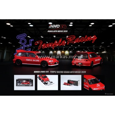 INNO MODELS INNO64 1/64 HONDA CIVIC EF9 TEMPLE RACING OSAKA AUTO MESSE 2020 JDM COLLECTION