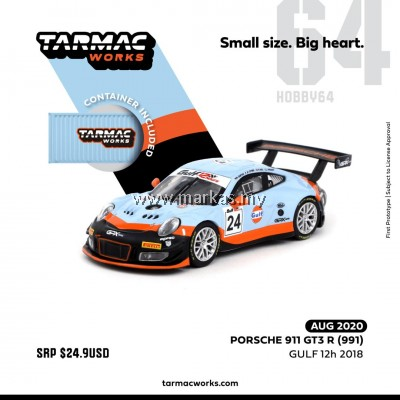 (PO) TARMAC WORKS HOBBY64 1/64 PORSCHE 911 GT3 R (991) GULF 12H 2018