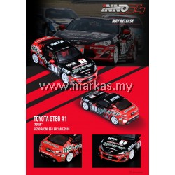 (PO) INNO MODELS INNO64 1/64 TOYOYA GT86 #1 ADVAN GAZZO RACING 86/BRZ RACE 2016