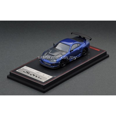 IGNITION MODEL 1/64 TOYOTA SUPRA (JZA80) BLUE METALLIC