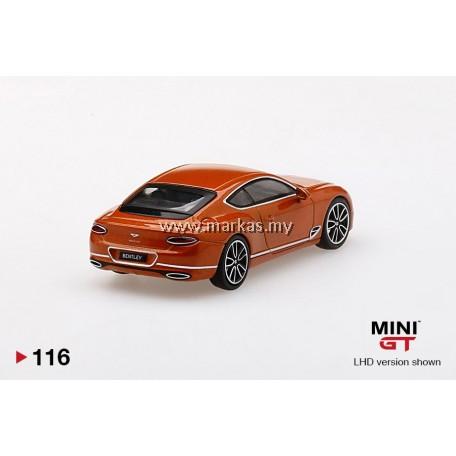(PO) MINI GT 1/64 #116 BENTLEY CONTINENTAL ORANGE FLAME