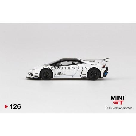 (PO) MINI GT 1/64 #126 LB WORKS LAMBORGHINI HURACAN GT WHITE