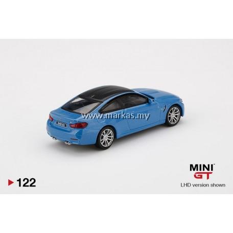 (PO) MINI GT 1/64 #122 BMW M4 (F82) YAS MARINA BLUE METALLIC