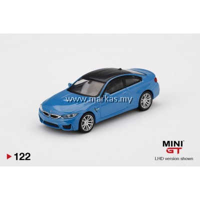 (PO) MINI GT 1/64 #122 BMW M4 (F82) YAS MARINA BLUE METALLIC
